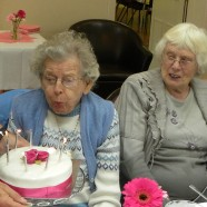 Eileen Skerratt celebrating her 92nd birthday at the Tuesday Afternoon Fellowship